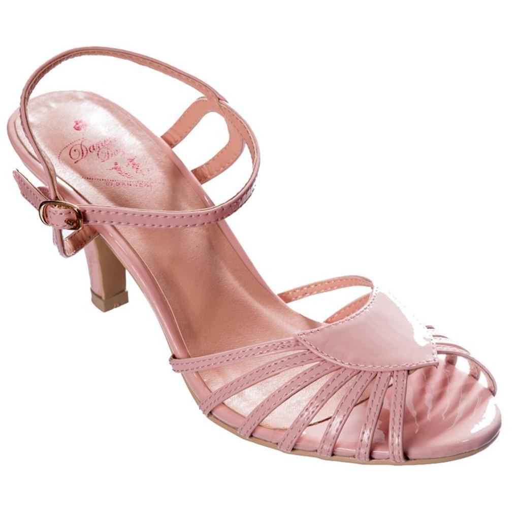 Dancing Days Amelia 1940s Retro Sandals - Pink