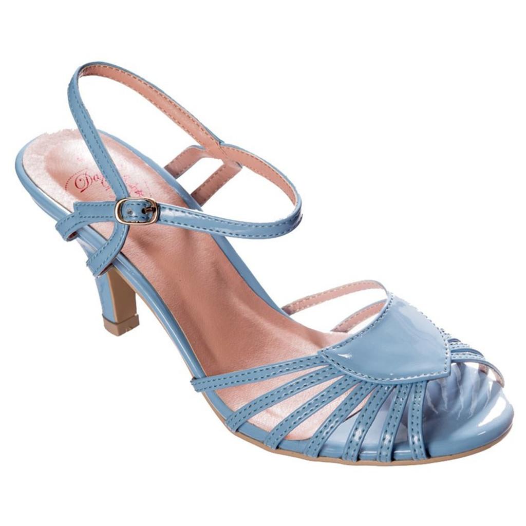 Dancing Days Amelia 1940s Retro Sandals - Blue
