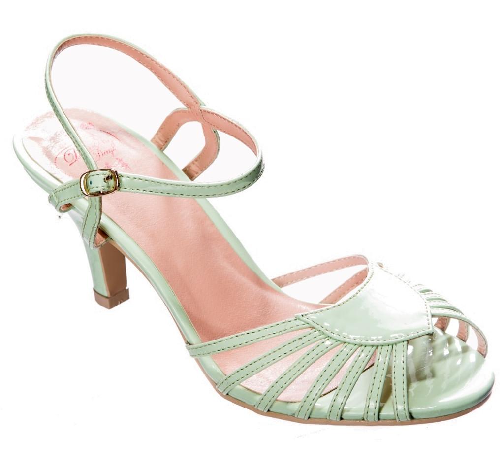 Dancing Days Amelia 1940s Retro Sandals - Mint