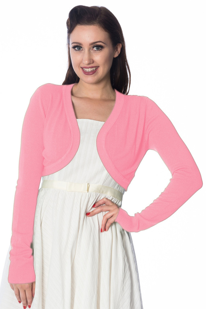 Super Soft Bolero Cardigan - Pale Pink