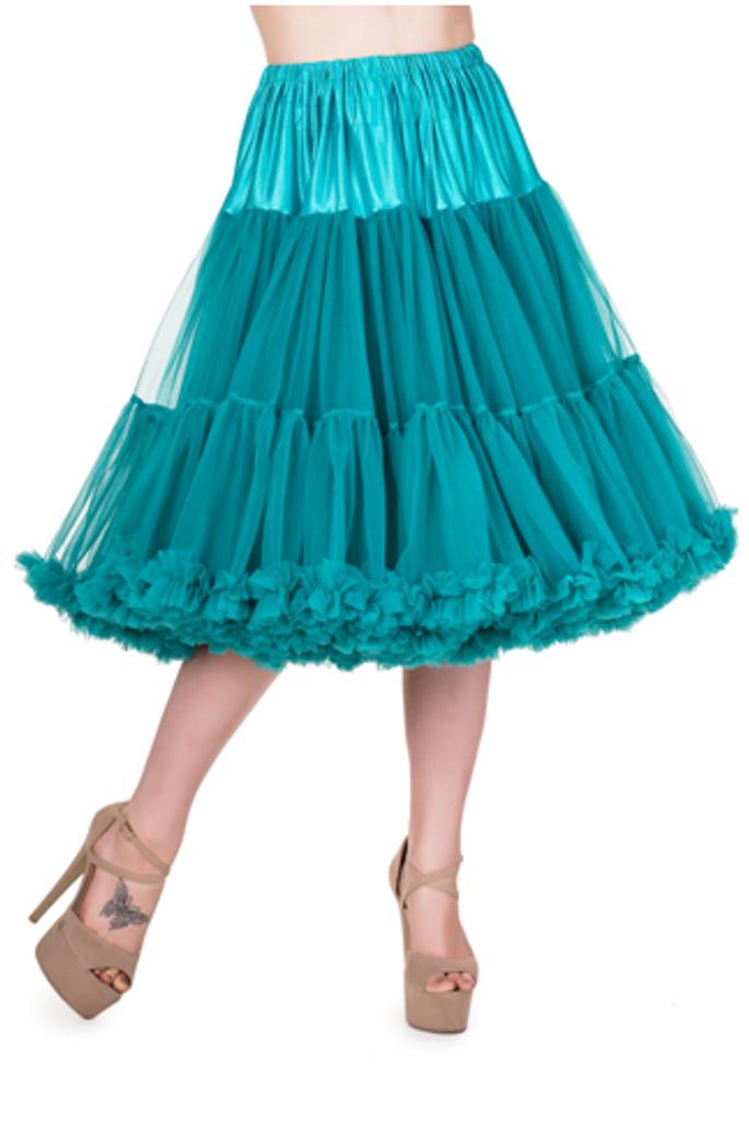 "26"" 1950s Soft Multi layered Petticoat Teal"