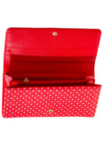 Now or Never Swollow and Polka Dot Purse - Red