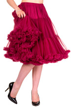 "25"" 1950s Soft Multi layered Petticoat - Burgundy"
