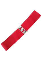 Vintage Stretch Belt - Red