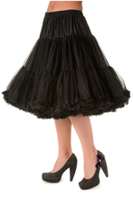"25"" 1950s Soft Multi layered Petticoat - Black"