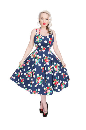 1950s Vintage Dress - Faux Halter