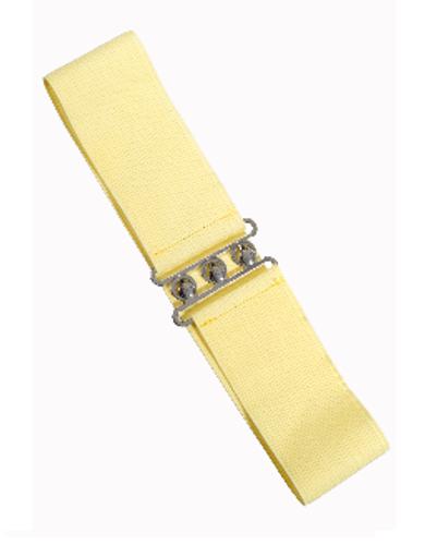Vintage Stretch Belt - Pale Yellow