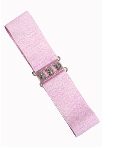Vintage Stretch Belt - Pale Pink