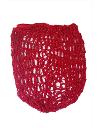 1940s Crochet Hair Snood - Red