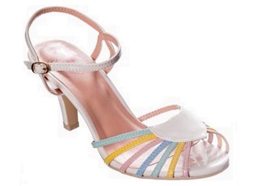 Dancing Days Amelia 1940s Retro Sandals - Multi
