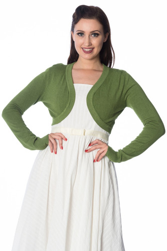 Super Soft Bolero Cardigan - Apple Green