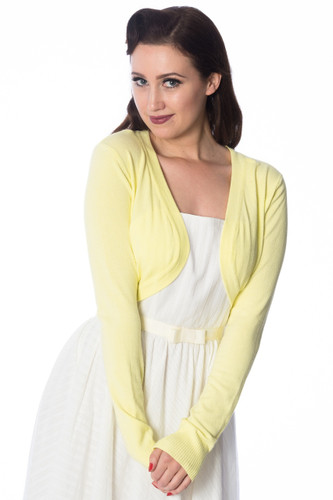 Super Soft Bolero Cardigan - Lemon