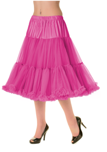 "26"" 1950s Soft Multi layered Petticoat Hot Pink"