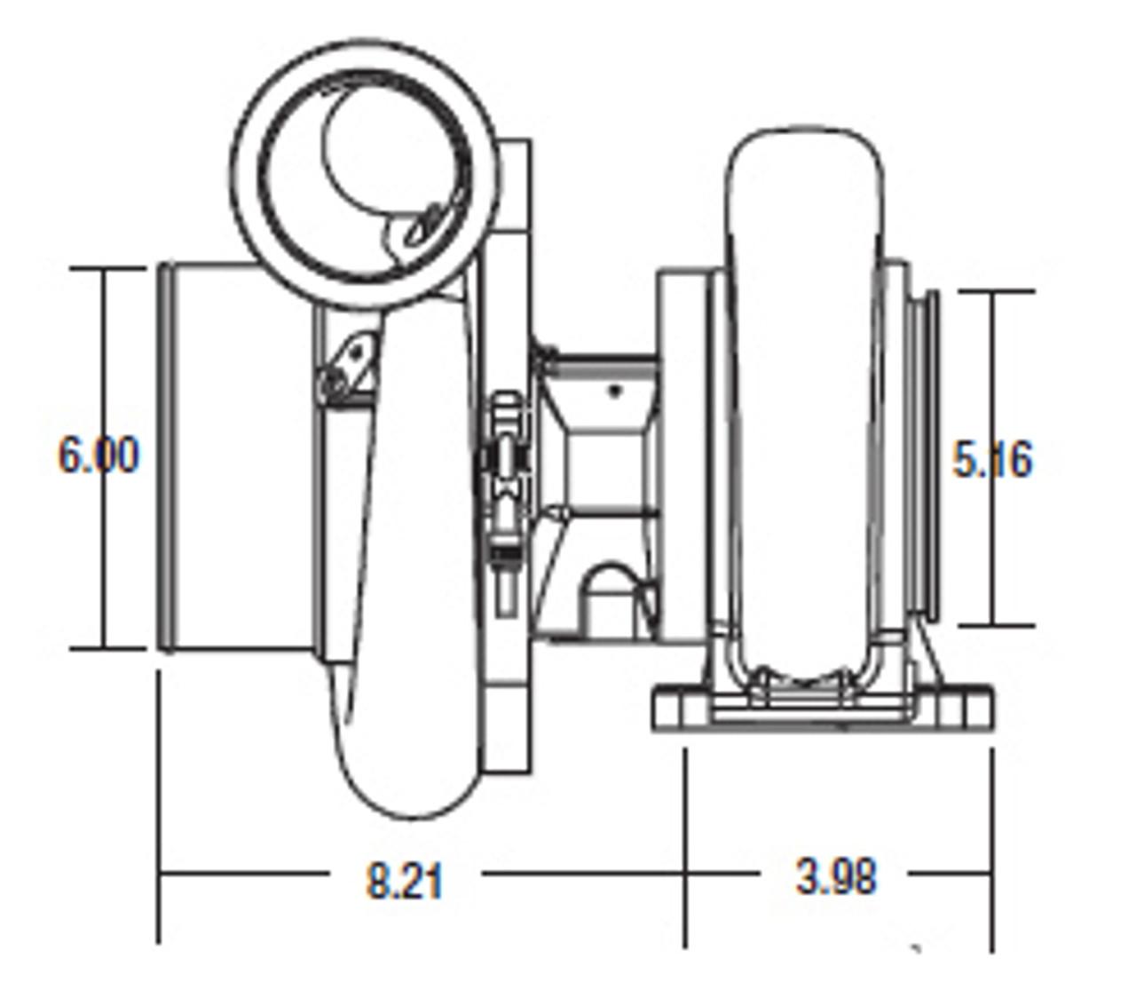 Borg Warner S500sx Turbocharger 88mm: Borg Warner S500SX Turbocharger (91mm)