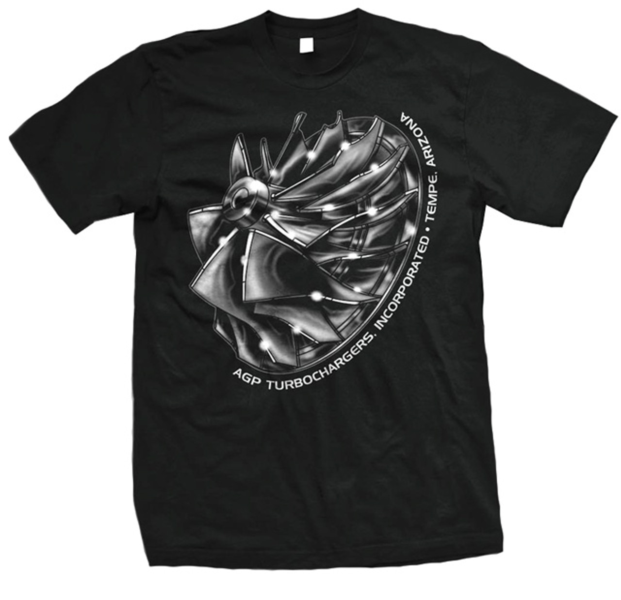 Agp Turbo Black Compressor Wheel T Shirt