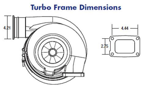 Borg Warner S500SX Turbocharger (91mm)