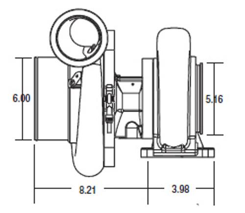 Shop Turbo Specific: Borg Warner S500SX Turbocharger (91mm)