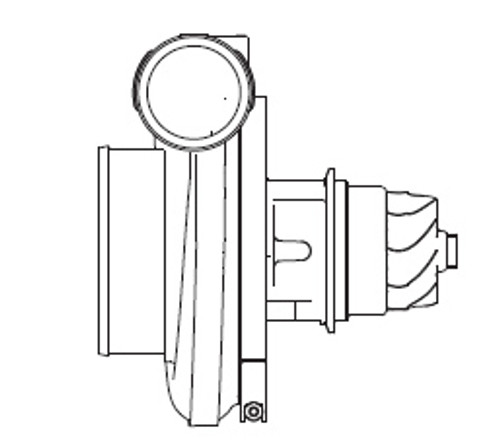 Borg Warner S500sx Turbocharger 88mm