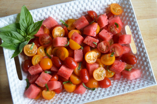 Heirloom Tomato and Watermelon Salad Recipe