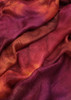 Silk mesh fabric. Open weave, lightweight,  lustrous. Tamarillo color
