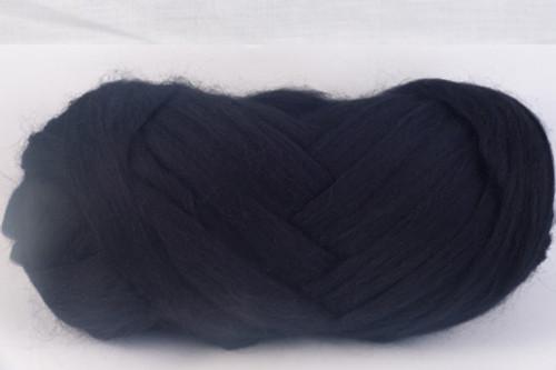 Black --Excellent true black.  18.5 micron Merino Wool Tops.