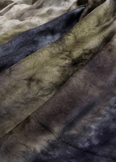 Silk mesh fabric. Open weave, lightweight,  lustrous.