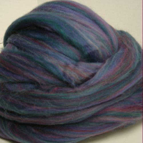 Multi Purple Polwarth wool roving