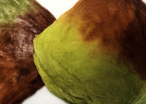 Silk hankies.  This color harmonies color is Regrowth