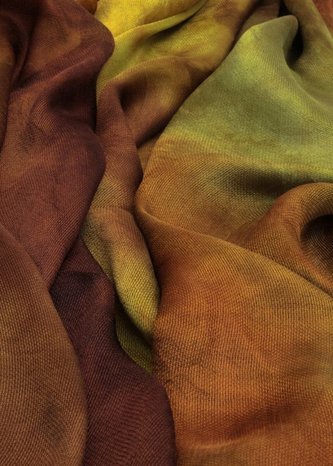 Silk mesh fabric. Open weave, lightweight,  lustrous. Regrowth color