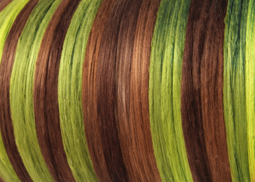 Bombyx silk tops for feltmakers. This dyed color harmony is Regrowth