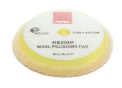 "RUPES Yellow Medium Wool Pad - 5"" (9.BW150M)"