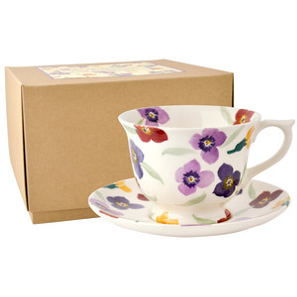 Wallflower Large Teacup & Saucer Boxed