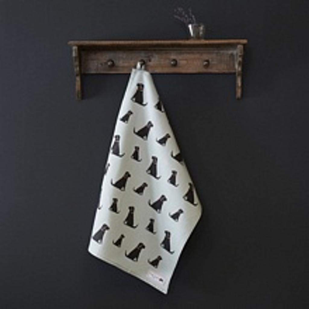 Sweet William Black Labrador Organic CottonTea Towel.