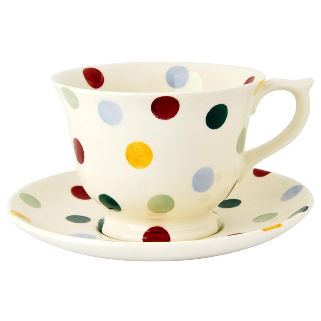 Emma Bridgewater Polka Dot Large Teacup & Saucer