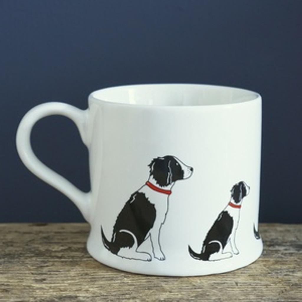 Pottery Springer Spaniel (Black & White) mug from Sweet William Designs.
