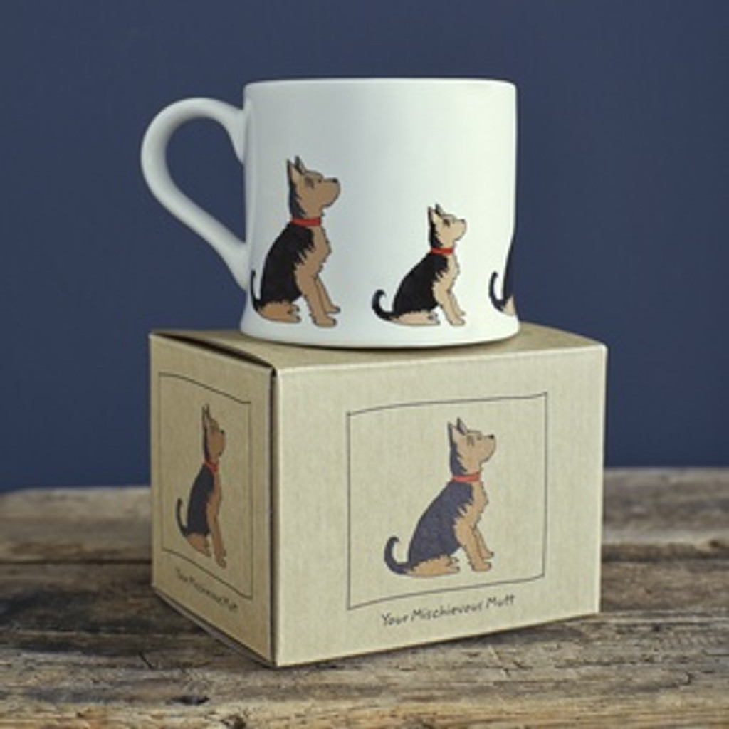 Pottery Yorkshire Terrier mug from Sweet William Designs.
