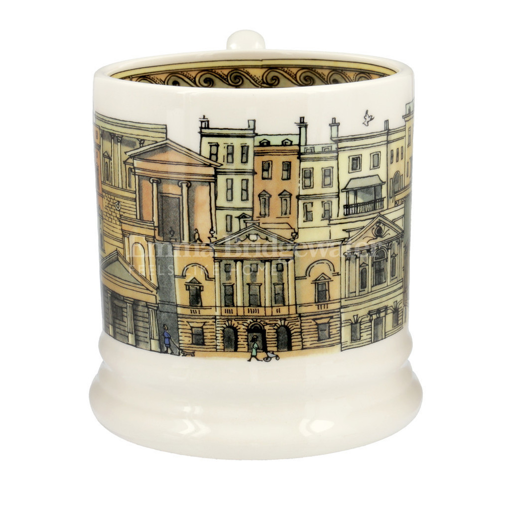 Emma Bridgewater Bath pottery half pint mug boxed.