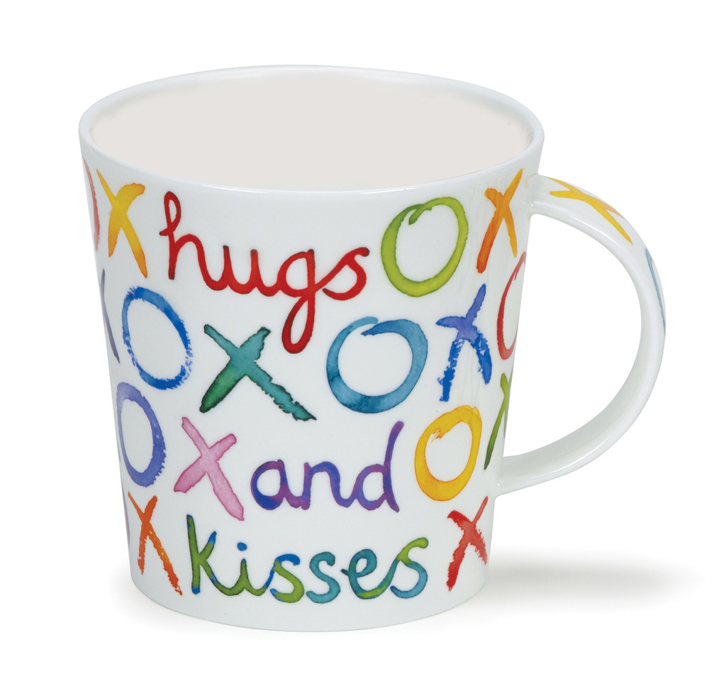 Dunoon Lomond Hugs & Kisses bone china mug.