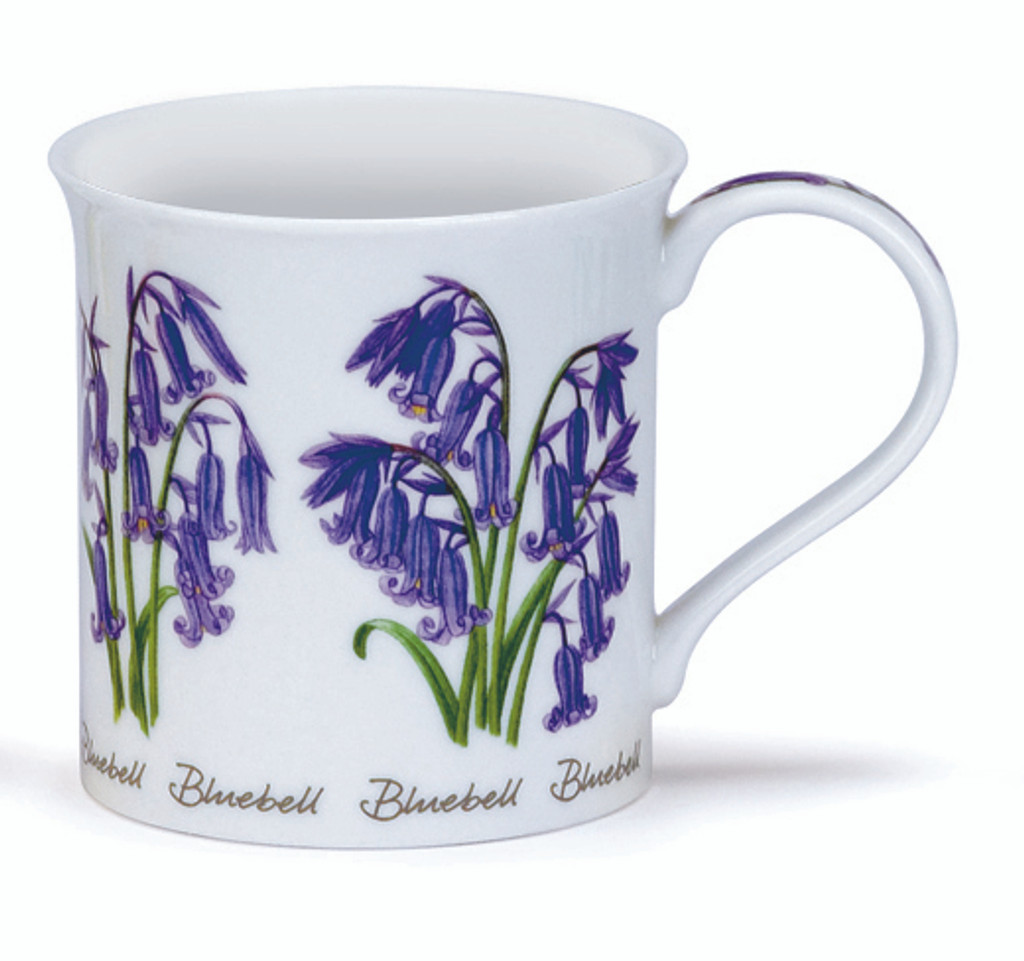 Dunoon Spring Flowers Bluebell bone china mug in the Bute shape.