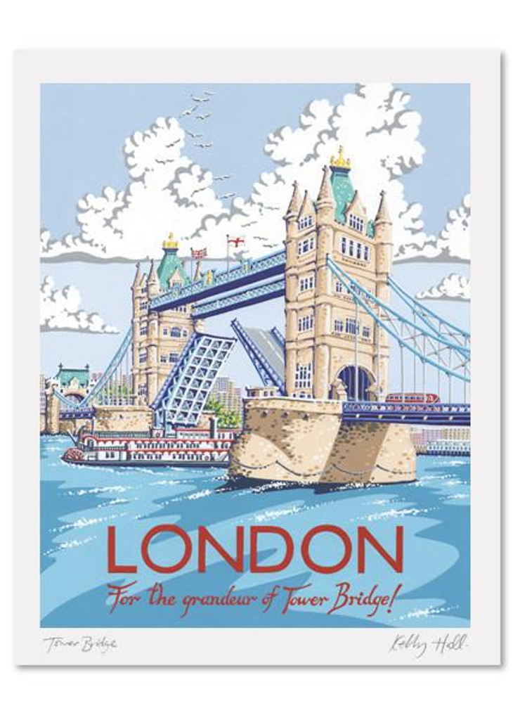 Kelly Hall London Print Printed In England