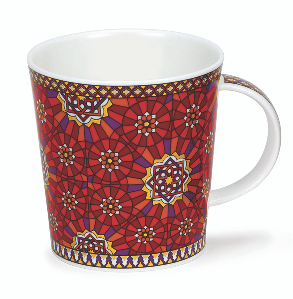 Dunoon Lomond Zahra Knot bone china mug.