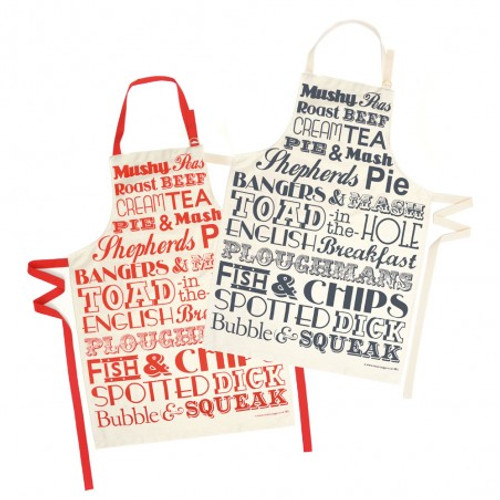 English Dinner Apron - Red