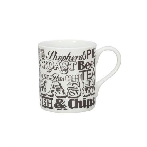 English Dinner Mug - Charcoal