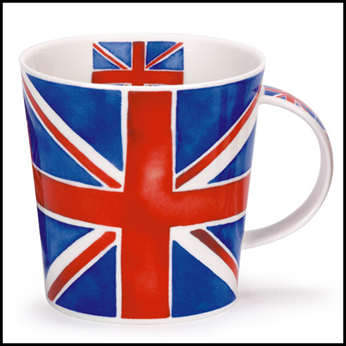 Bone China Dunoon Cairngorm Union Jack mug