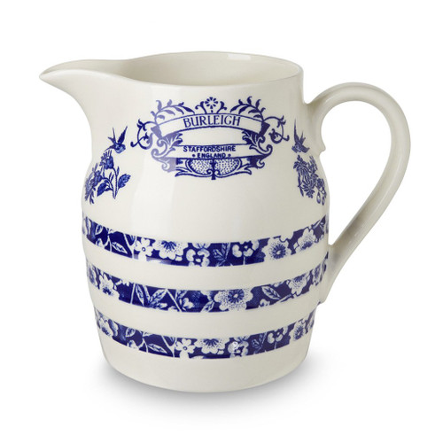 Burleigh Blue Heritage Hooped Churn 4 pint Jug