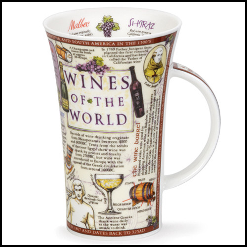 Bone china Dunoon Glencoe Wines of the World mug