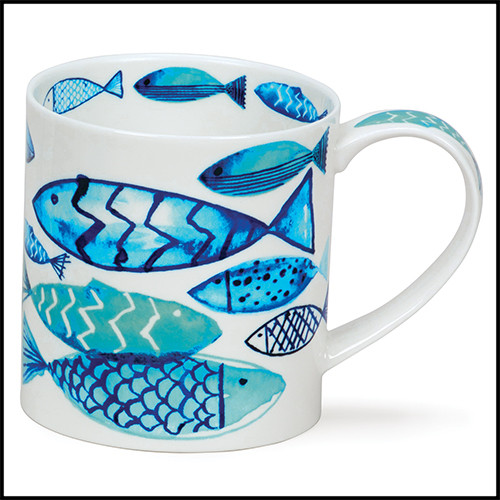 Fine bone china Dunoon Orkney Go Fish mug