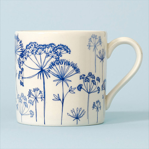Ceramic Seedhead mug. Made in England.