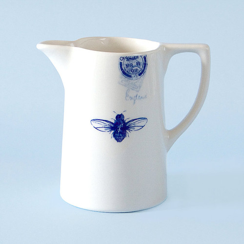 Ceramic small Bee jug. Made in England.
