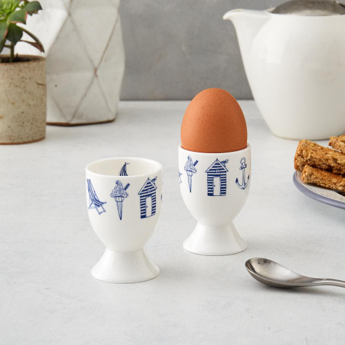 Bone china Nautical egg cup from Victoria Eggs.